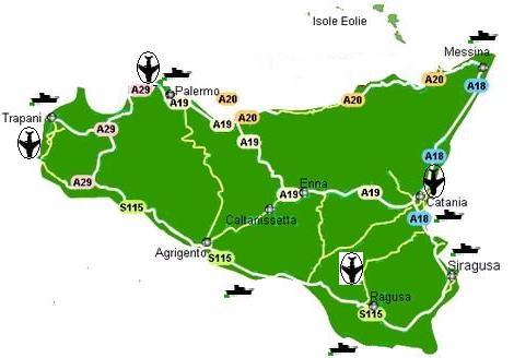 Cartina Ferroviaria Sicilia.Come Arrivare In Sicilia Heritage Sicily