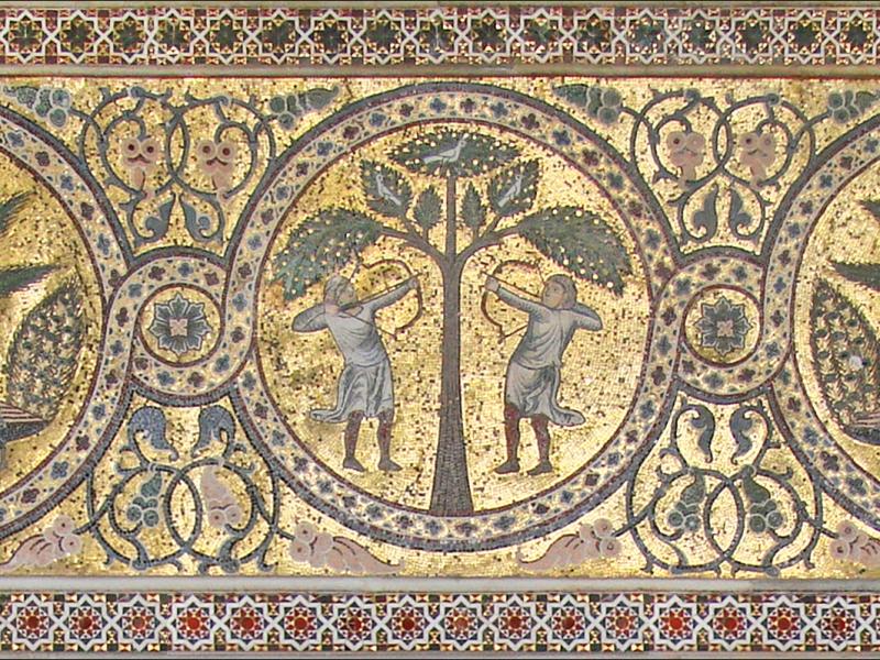 Mosaico del castello della Zisa - Palermo