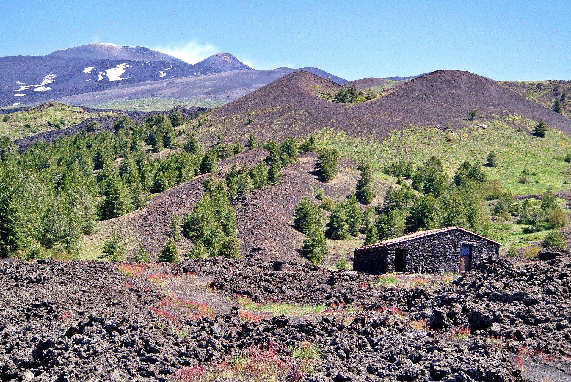 Paesaggio del Monte Etna